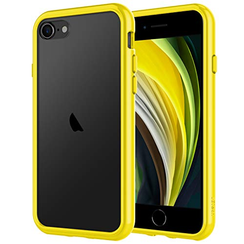 JETech Funda Compatible iPhone SE 2ª Generación, iPhone 8 iPhone 7, Anti- Choques y Anti- Arañazos, Amarillo