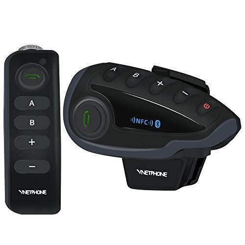 Sistema De Comunicación De La Motocicleta Del Intercomunicador GTYW Bluetooth V8 Full Duplex Con NFC Gama De Walkietalkie Del Manos Libres 1200M Para Alcanzar A 5 Miembros Simultáneamente Connected,Black-5set