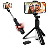 Aduro U-Stream Selfie Stick Tripod Extendable Cell Phone Tripod with Bluetooth Remote Phone Stand for iPhone & Android Phone