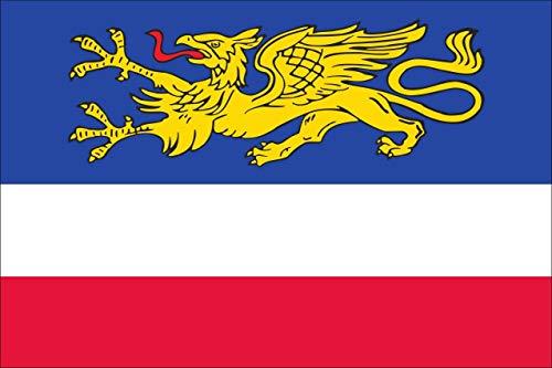 flaggenmeer® Flagge Rostock 120 g/m² ca. 100 x 150 cm
