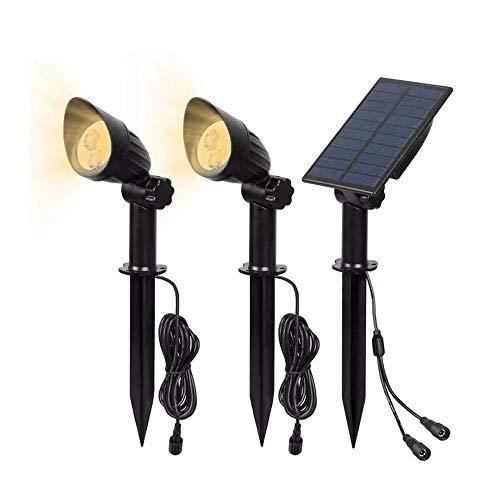 Decorativa Iluminación de paisaje LED Solar Powered 2 en 1 Luz-controlada Luz de grama impermeable al aire libre Patio Lámparas de pared del paisaje, luces
