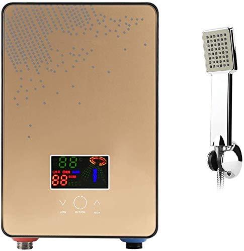 Anciun 6500W Elektrischer Durchlauferhitzer Durchlauferhitzer, Digital Tankless Dusche Set mit Konstante Temperaturregelung und Einem Duschsprühkopf Sofortiger Durchlauferhitzer