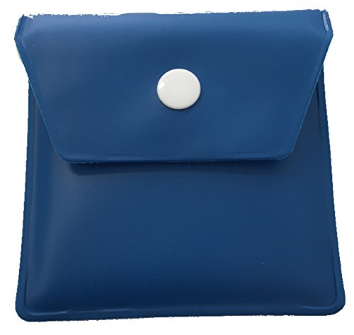 DOBO Posacenere porta cicche tascabile porta mozziconi lavabile morbido con interno ignifugo porta cenere per sigarette (Blu)
