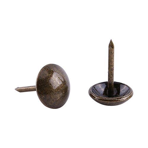Clavos Retro Metal Etiquetas Muebles Sof Puerta Del Zapato Decorativo Tack Stud Clavos de Uave/Daisy/Square/Plum Nail para Sofa Decoration Pack de 100 (11 * 17mm)