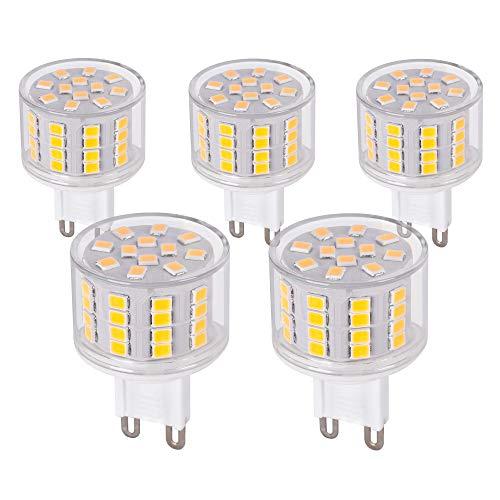 5x G9 LED Leuchtmittel kurz 5W 230V warmweiß 2900K Lampen Stecklampe Halogen Ersatz SMD 560 Lumen 5er Pack