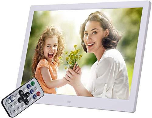 Nfudishpu Marco Fotos Digital LED Alta resolución 15 Pulgadas 1280 * 800 con inducción Suelo Humano Altavoz Doble 16 & Omega; 2w Incorporado y Control Remoto con función Reloj Calendario