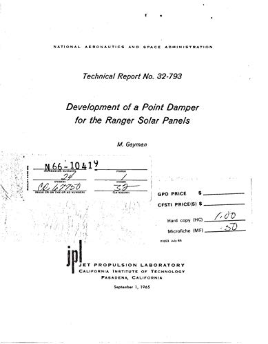 Development of a point damper for the ranger solar panels (English Edition)