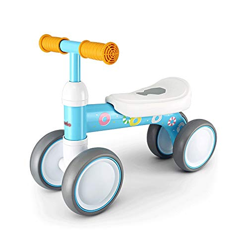 SXNYLY Baby Balance Bike 1-2 Years Old Girl/Boy Bike Best Toy Gift 1 Year Old Toy Without Pedal Baby 4 Wheel Toddler Balance Bike (Color : A)