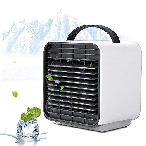 PersöNliche LüFter, 5,2 Zoll GroßE Tragbare Mini-Klimaanlage USB-SchnittstellenlüFter 2-In-1-VerdunstungsluftküHler Mit Luftbefeuchter Und Luftreiniger