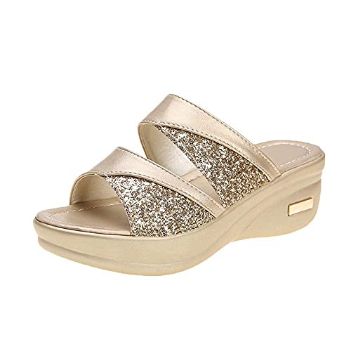 Massage Slippers Women Wear Thick-Soled Shoes Wedge Heel Fish Mouth Sandals and Slippers Women/Men's Slip On Slippers