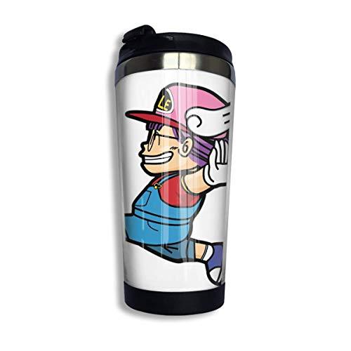 Edelstahl Reise Kaffeetasse, Anime Arale Kaffee Reisebecher Tasse Edelstahl Vakuumisolierter Becher 13,5 Unzen