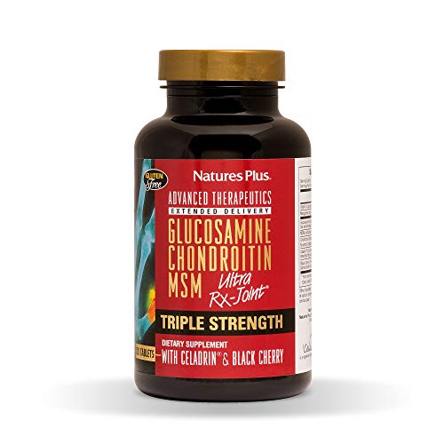 NaturesPlus Advanced Therapeutics Triple Strength Ultra Rx-Joint, Extended Delivery - 120 Tablets - Glucosamine/Chondroitin/MSM - High Potency Joint Support - Gluten-Free - 30 Servings