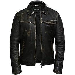 Brandslock Men Leather Biker Jacket Cow Hide Soft Leather Jacket
