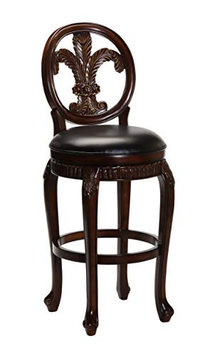 Hillsdale Fleur de Lis Swivel Counter Stool, 25