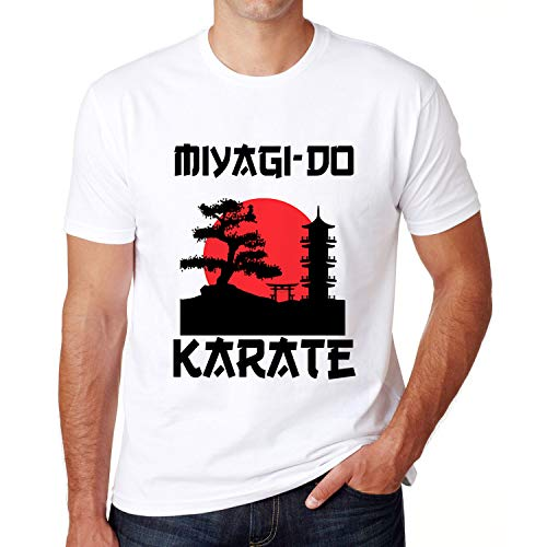 Retro Vintage Miya_gi Do Kara_te Life Bon_sai Tree Martial Arts Fighter T-Shirt (Design - Size)