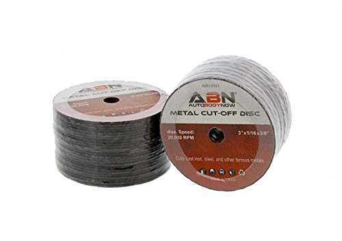 ABN 3in Metal Cut Off Blade 50-Pack with 20,000 RPM Max Speed Use With 3/8in Arbor - Cut, Sand, Level and Trim