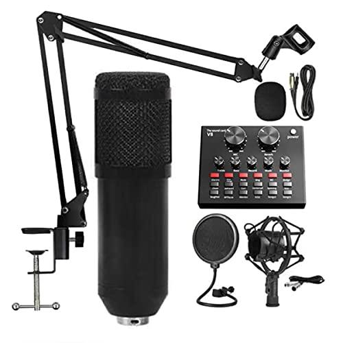 LLTFFFHM BM800 PRO Microfono Mixer Audio DJ Condenser Scheda Audio Live Broadcast Mic Bandi USB Bluetooth Recording Professional Gioco V8