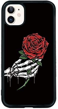 Rose Phone Case Compatible with iPhone 11 6 1 Inch Shockproof Protective TPU Aluminum Cute Cool product image