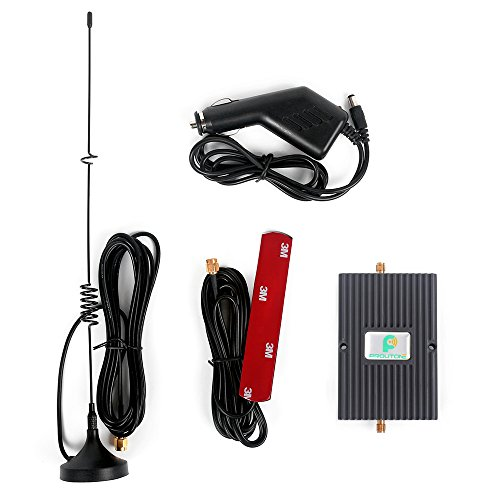 Cell Booster Car Cell Signal Booster Cellular Signal Repeater for Truck, RV Phone Amplifier Antenna Band 5 Band 2 850/1900MHz
