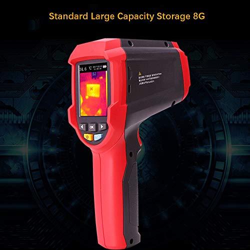 Thermodetektor/Infrarot Wärmebildkamera, Infrarot-Wärmebildkamera Nachtsicht-Wärmebildkamera für Fußbodenheizung, Infrarot-Luftfeuchtigkeitsthermometer mit 2,4-Zoll-Farbdisplay (-30 bis 400 ° C)