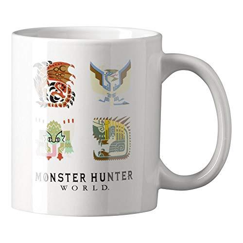 Monster Hunter World Tasse, weiß, Fassungsvermögen: 320 ml.