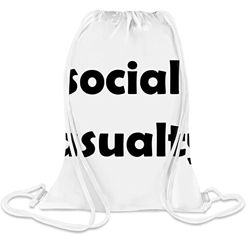 Soziale Unfallversicherung - Social Casualty Custom Printed Drawstring Sack 5 l 100% Soft Polyester A Stylish Bag For Everyday Activities