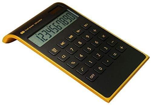 Winnes Wissenschaftlicher Taschenrechner, Pocket Scientific Calculator Black IPS LCD Display Akku und Netzteil Solar Multifunktions Große Taste für Büro Business Schule Berechnung Leer jq01