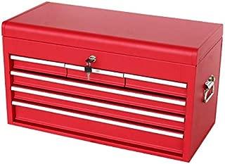 ツールチェスト4段 (単色) レッド 艶なし マットタイプ ツールボックス トップチェスト キャビネット 工具箱 TCM-4R
