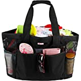 Mesh Beach Bag for Women -Extra Large Beach Tote Bag with 9 Oversized Pockets -Lightweight Market Grocery & Picnic Tote Travel Bag with Top Zipper