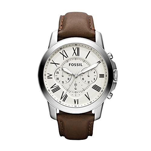 Fossil Reloj Cronógrafo para Hombre de Cuarzo con Correa en Piel FS4735