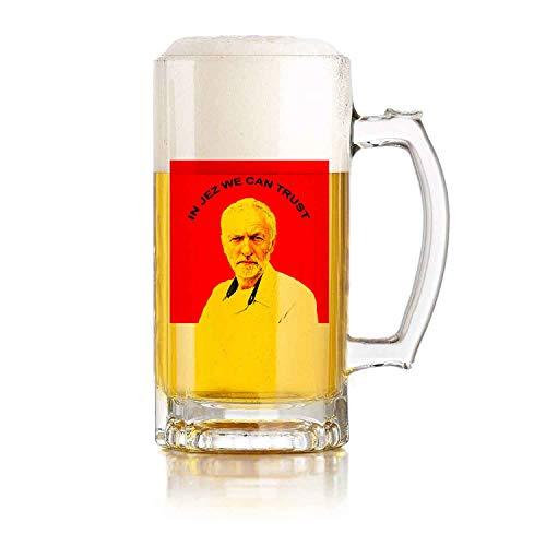 Jarra de cerveza de vidrio con asa en JEZ We Can Trust Heat Exchange Resistente a caídas y duradera