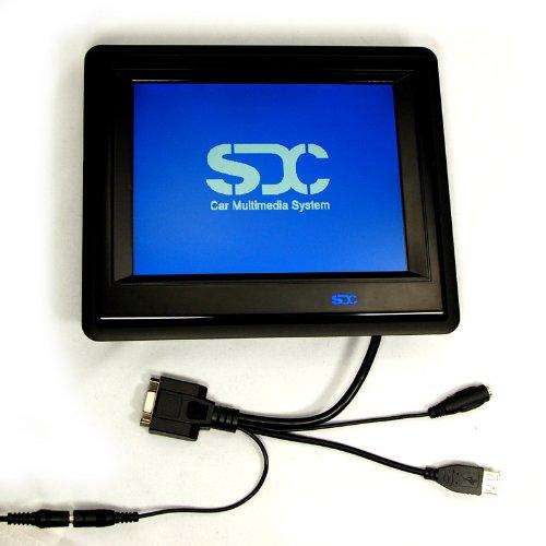 SDC 20,32cm (8 Zoll) TFT LCD Touchscreen Monitor Auflösung 1024x768 nativ (24 Monate Sofortaustausch im Servicefall)