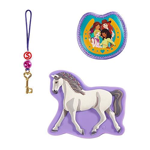 """Step by Step Magic Mags Schleich® Horse Club Holsteiner Stute"""", 3-teilig, 2 Magnet-Applikationen und 1 Anhänger, als Ergänzung für den Schulranzen oder Vorschulrucksack, für Mädchen"""