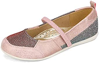 DREAM PAIRS Girls Slip On Dress Shoes Elastic Strap Mary Jane Ballet Flats Pink Size 12 Little Kid SASA-2