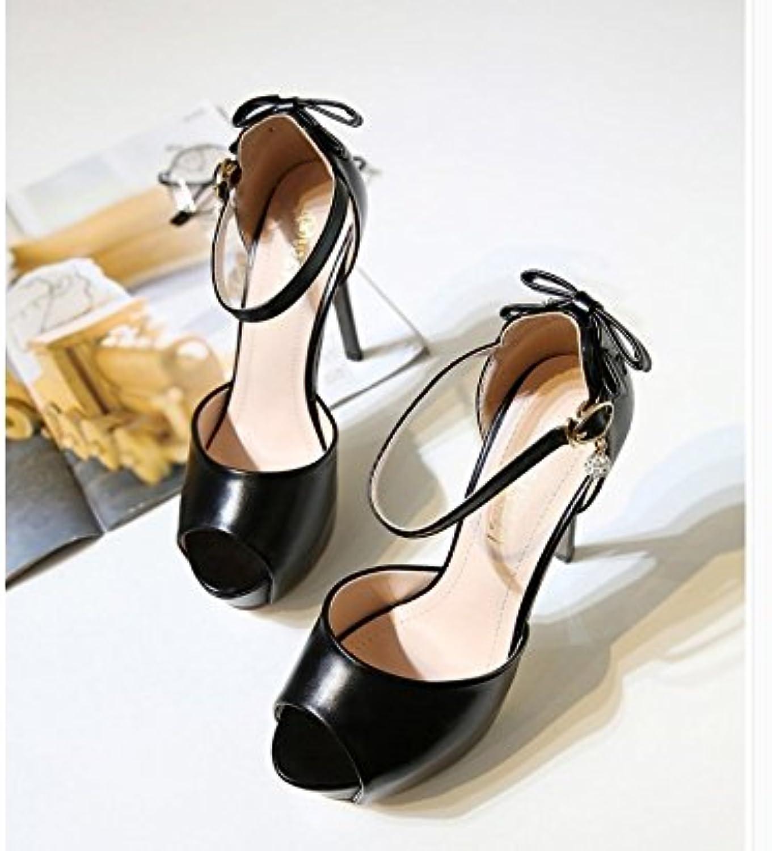 WHW Women's Flat Heel low heel rhinestone Casual sandals,36,black