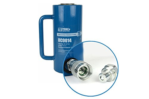 TEMCo HC0014 - Hydraulic Cylinder Ram Single Acting 30 TON 6