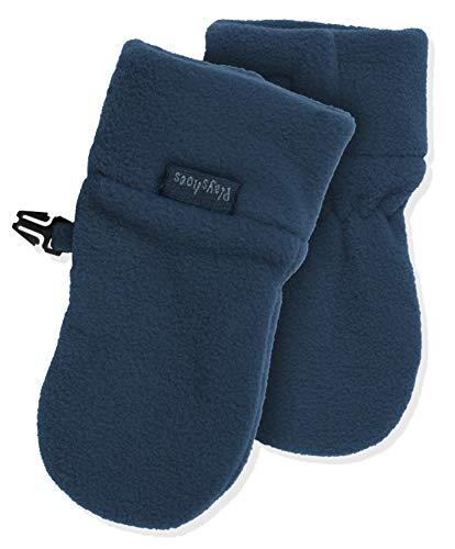 Playshoes Unisex - Baby Fäustling Kuschelweiche Fleece-Handschuhe, Baby Fäustel, Fäustlinge, Blau (Marine 11 )