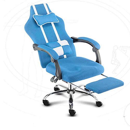 Mesa de ordenador Gaming Chair (Sillas Gaming) Video Juegos silla ergonomica escritorio de la computadora for sillas de respaldo alto estilo de conduccion comoda silla de cuero Sillon giratorio de eje