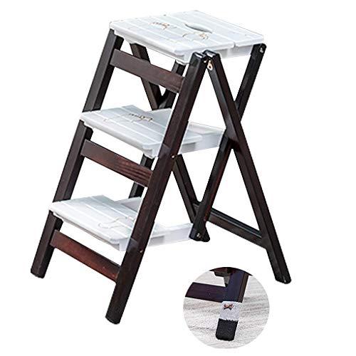 Echelle Escabeau Étape Bois Pliante Tabouret Grenier Cuisine Bureau Stairs Chaise étagère de Rangement Jardin Outil de sécurité Escabeau QIQIDEDIAN