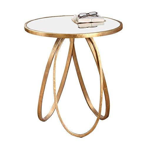 Carl Artbay Home&Selected Furniture/ronde bijzettafel/salontafel/bijzettafel/sofa, tafel, metaal, glas, 60 x 66 cm