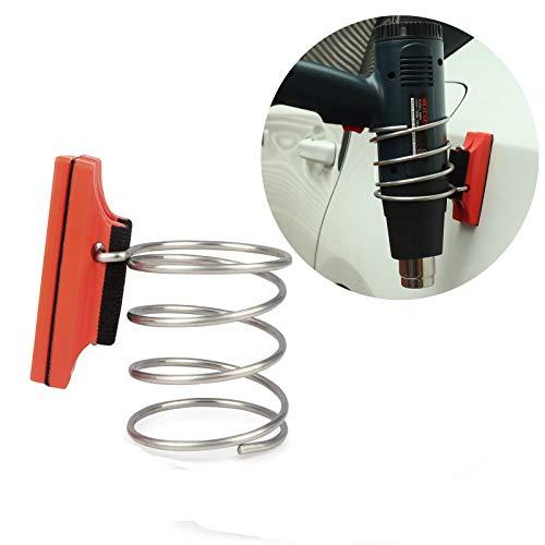 Winjun - Soporte magnético para pistola de calor con tapa de seguridad y base de fieltro para envolver vinilo y organizar herramientas