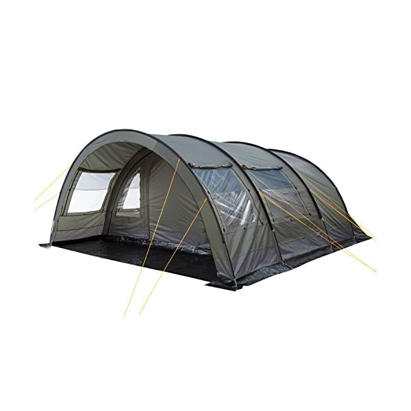 CampFeuer - XXL Tunnel Tent, 6 Person, Olive-Green, 5000 mm