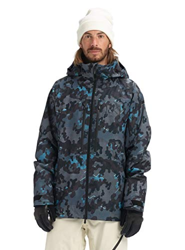 Burton Mens Ak Gore-Tex Swash Jacket, Slate Shelter Camo, X-Large