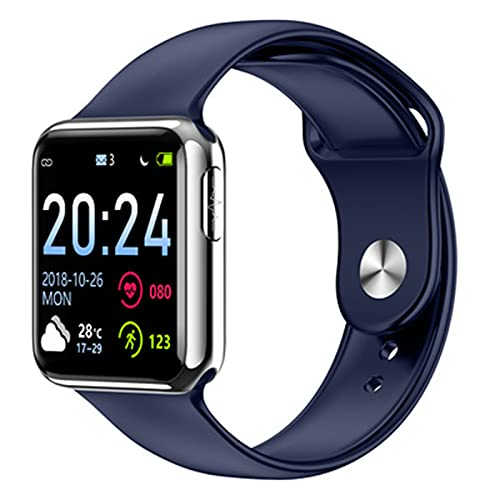 LKM V5 Smart Watch Men Fitness Tracker ECG Presión Arterial Monitor de Ritmo cardíaco Reloj Mujer Smartwatch para iOS Android,B
