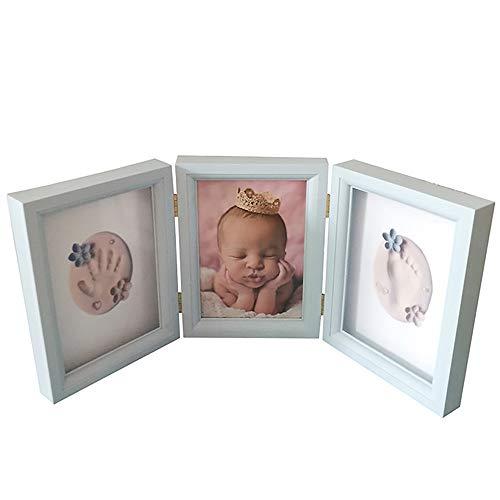 WANZHUANK 아기 손과 발을 인쇄 기념품 프레임 표시 사진 프레임 선물 기념품 등 아이들의 사진 프레임을 제시