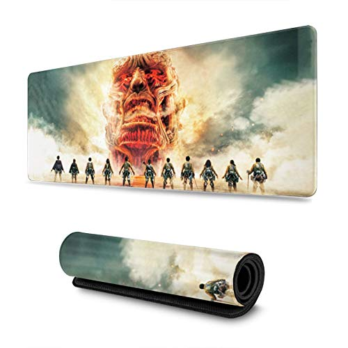Attack On Titan Custom Mouse Pad Anime Mouse Mat Home Office Computer Gaming Mousepad Desk Mat 31.5x11.8 Inch