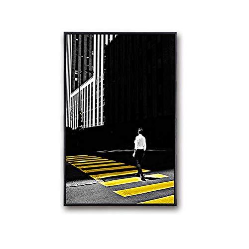 Dekoratives Gemälde, Dekoration Wandkunst Leinwand Malerei Poster Leinwand Kunst Wand Bilder Motiv: Schwarzer weißer Regenschirm canvas Kunst bilderrahmen (mit Rahmen) - 27 x 37 cm
