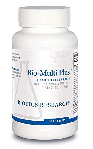 Biotics Research Bio Multi Plus Iron and Copper Free Multivitamin, Chelated Minerals, Emulsified Fat Soluble Vitamins, Iron Free, Copper Free, High antioxidants, SOD, Catalase 270 Count
