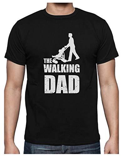 Green Turtle T-Shirts Camiseta para Hombre- Regalos Originales para Padres Primerizos - The Walking Dad X-Large Negro