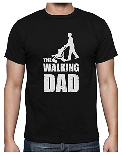 Green Turtle T-Shirts Camiseta para Hombre- Regalos Originales para Padres Primerizos - The Walking Dad Large Negro